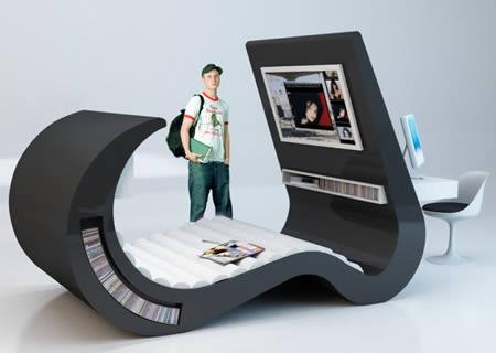 10 Really Cool Desks cool desks space saving desk Oddee