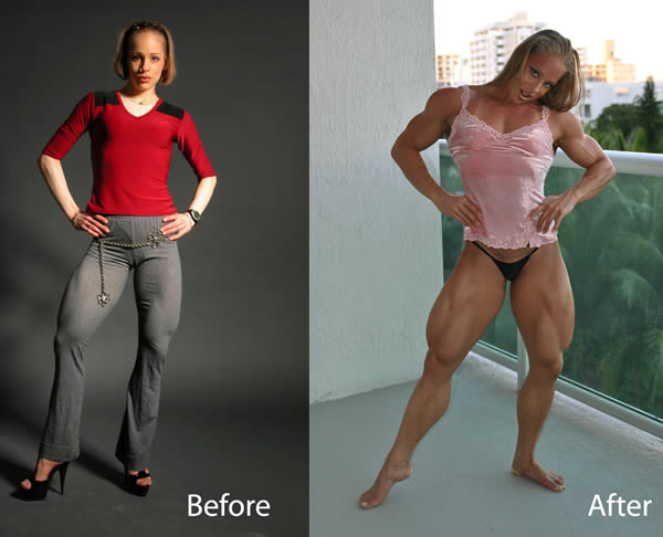 8 Women Before and After Steroids - Oddee