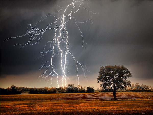 Scary Lightning Strike