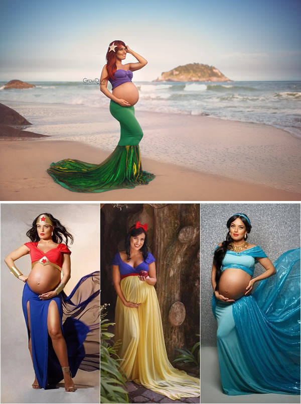 3548db6d78810 4The expectant moms who posed as Disney princesses. Motherhood is pretty  magical and Brazilian photographer ...