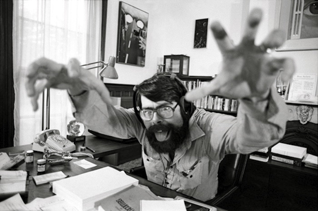 Stephen King Writing At Desk