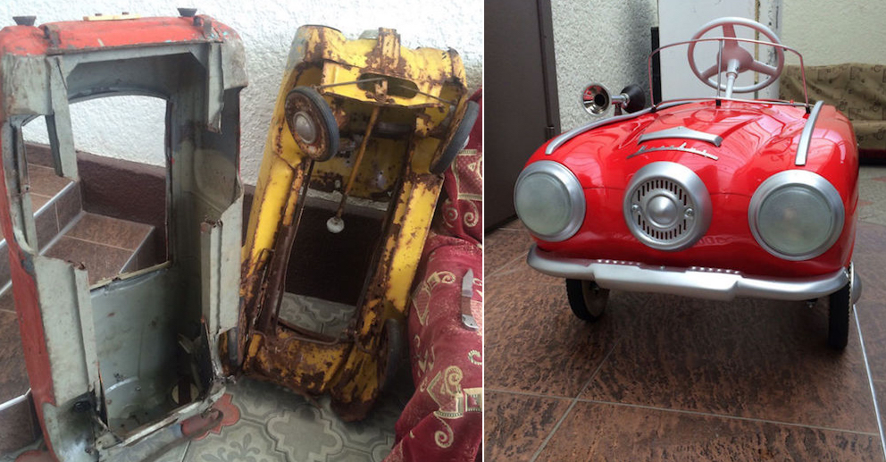 This Guy Restores Old Kid\'s Pedal Cars Back To New