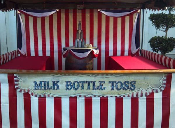 Milk Bottle Toss Popular Carnival Game