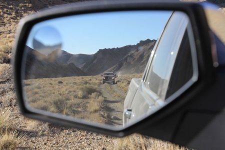 Truck In Rearview Mirror