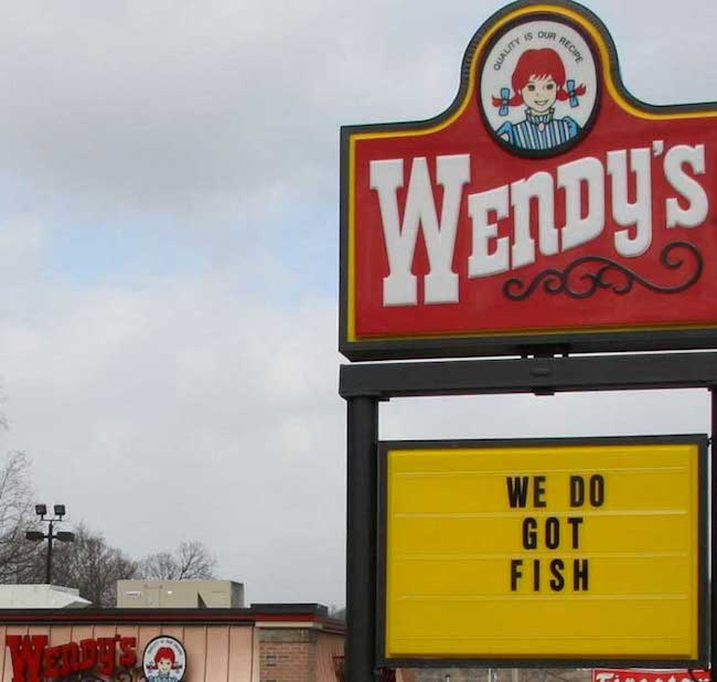 funny fast food sign