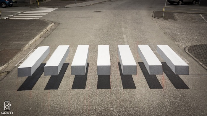 optical illusion road