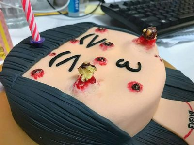 pimple popping cake