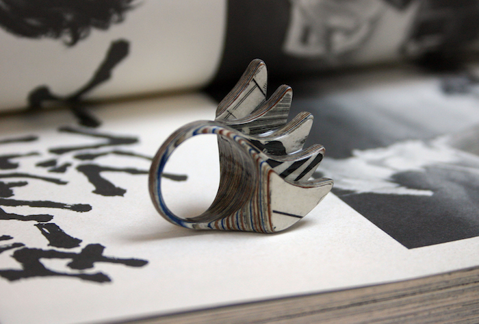 old books into jewelry