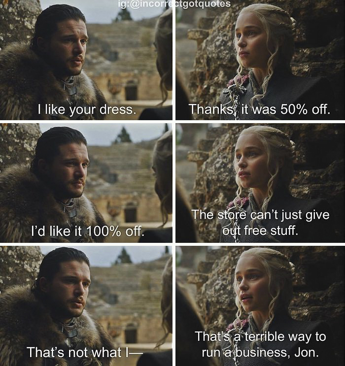 Game Of Thrones Funny Captions