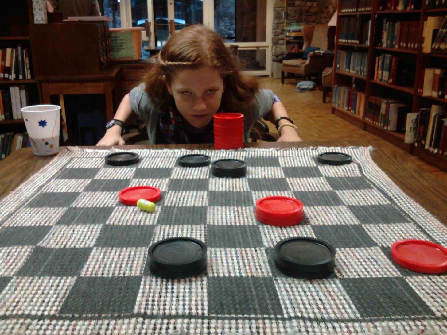 Winning at checkers