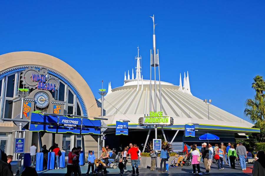 Space Mountain Outside