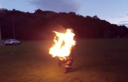 World Record Fire Run