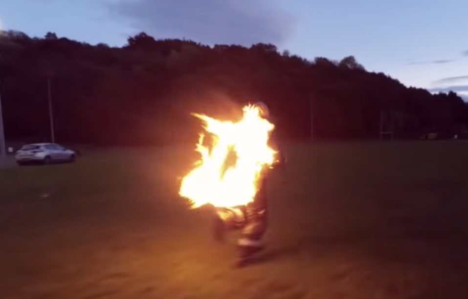World Record Fire Run