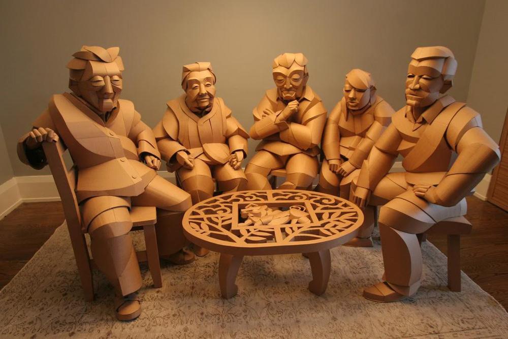 Warren King Cardboard Sculptures