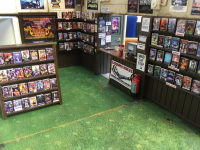 miniature video store model