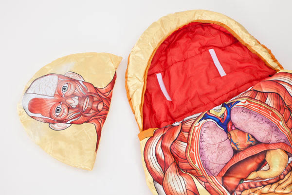 Give Your Friends A Complimentary Biology Lesson At The Next Sleepover By Placing Yourself Inside This Anatomically Correct Sleeping Bag