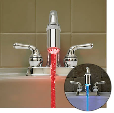 Simple If you want to add something interesting to your bathroom you can start with a color changing faucet This will make your bathroom more alive