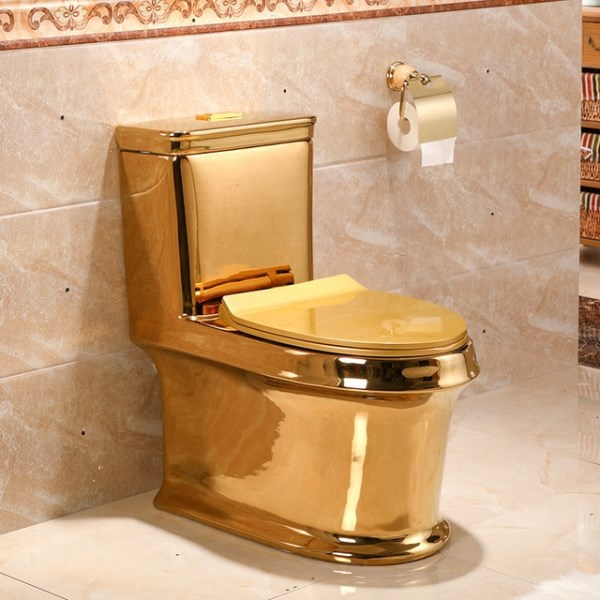 toilet made of gold. World s priciest toilet is located in Hong Kong  Built 2001 the entire washroom required 380 kg of pure gold and 6 200 gemstones 12 Extraordinary Gold Plated Stuff golden objects Oddee