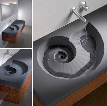Water Follows The Coriolis Effect And Spirals Into The Drain On Its Own U2013  This Clever Sink Design Just Helps It Along And Accentuates The Process In  A ...