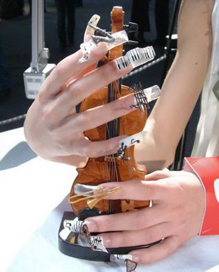 15 coolest nail art designs nail art designs nail art ideas 6musical nail art design prinsesfo Images