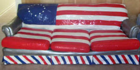duct tape furniture. 8Duct Tape Patriotic Couch Duct Tape Furniture