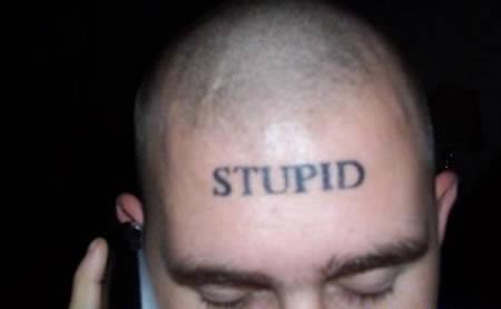 15 Most Stupid Forehead Tattoos Stupid Tattoos Oddee