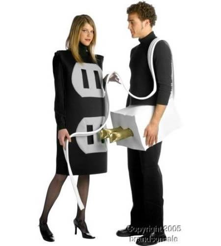 plug socket couple costume 4499