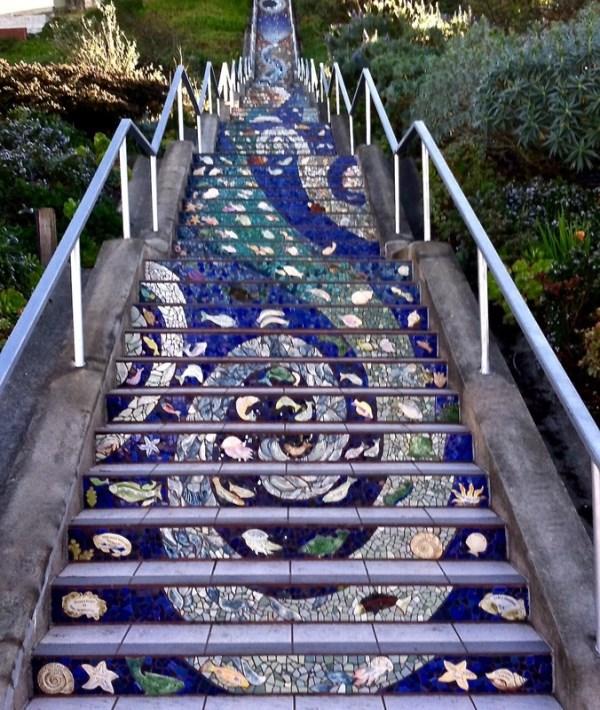 6San Franciscou0027s Tiled Steps   Worldu0027s Longest Mosaic Stair (USA)