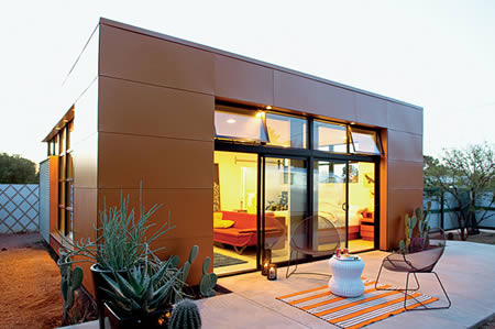 This Prefab Kit Home In Tucson, Arizona, Was Designed By Architect Rocio  Romero And Took About 12 Weeks To Be Completed. It Belongs To Aaron Jones.
