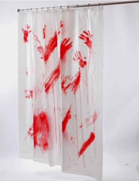 Bloody Shower Curtain 599