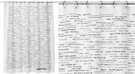 Top 500 SAT Words Shower Curtain 2000
