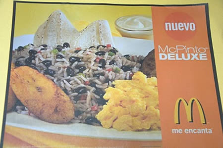 Image result for Gallo Pinto mcdonalds