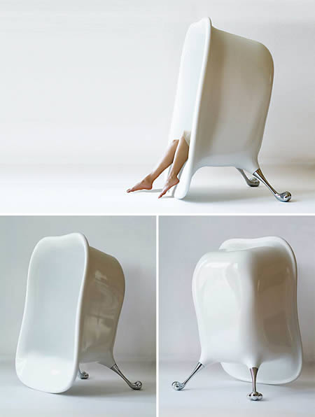 This unique lounge chair has a bathtub shape  The idea is to clean lines  between hot relaxing bath and comfortable sitting in living room. 15 Coolest Lounge Chairs   modern lounge chairs   Oddee