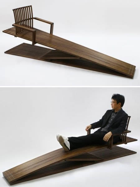 The Ducking Lounge Chair Is True To Its Name As It Appears To Be Long  Enough, Measuring 2 Meters. Made From Walnut And Built Into A Certain  Degree Of ...