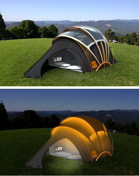 1Orange Solar Tent Concept & 12 Strange and Creative Camping Tents - camping tents - Oddee