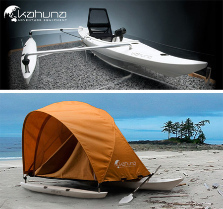 A Cool Boat Which You Can Camp In The Sea Or Lake Kahuna Is New Touring Inspired By Old Polynesian Outrigger Canoes