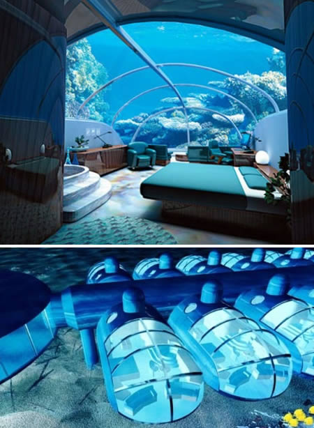 coolest bedrooms. This is the Nautilus Undersea Suite at The Poseidon Resort  Fiji It s located 40 ft under water 12 Coolest Bedroom Designs bedroom designs ideas modern
