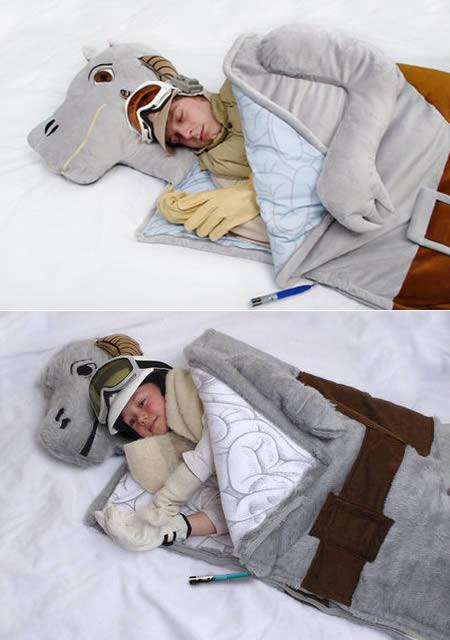 Shark Pillow Sleeping Bag 10 weirdest sleeping bags - cool sleeping bags - oddee