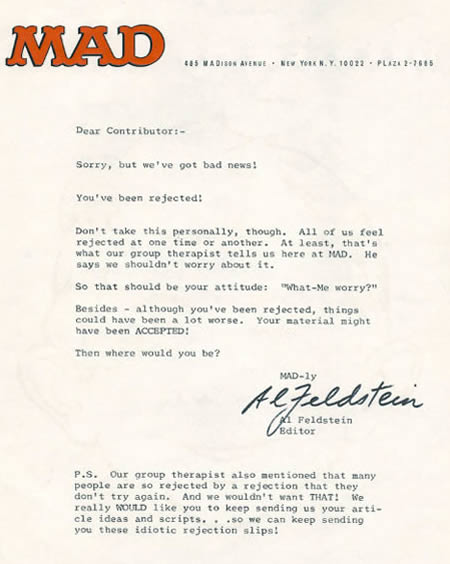Funniest Rejection Letters  Rejection Letters  Oddee