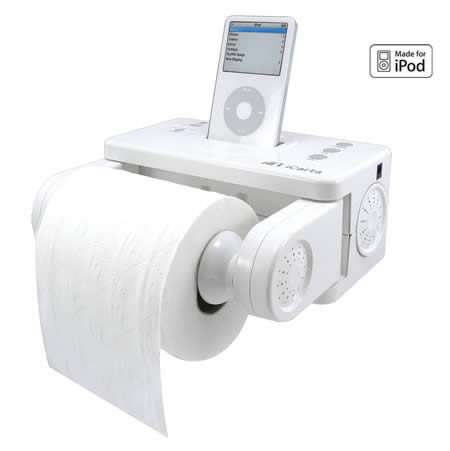 The IPod Has Taken Over Our Lives And Now Sanctuary Of Bathroom Is No Longer Safe ICarta IPOD Toilet Paper Holder 2999 A Moisture