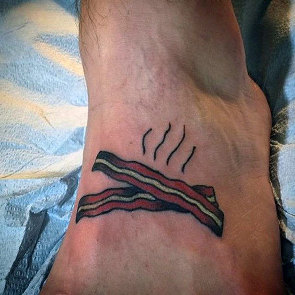 12 Craziest Bacon Tattoos Crazy Tattoos Food Tattoos Oddee