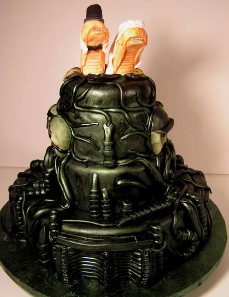 Awesome Alien Wedding Cake From Jet City Cakes