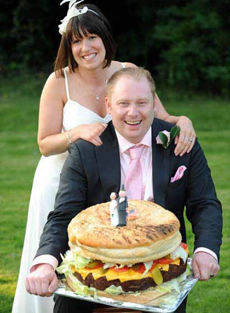 A British Couple Wanted To Do Something Different Celebrate Their Marriage And Did So With An Unusual Variety Of Wedding Cake