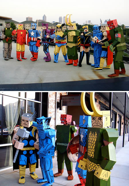 Whatu0027s more awesome than superhero costumes for Halloween? How about these Cubeecraftu0027d Avengers (made for Dragon*Con 2010). & 15 Coolest Halloween Costumes - Oddee