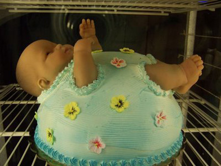 That S The Thing About A Cake Shaped Like Baby It Ok To Have As Centerpiece At Shower But Kind Of Creepy When You Cut