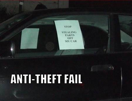 17 Hilarious Anti Theft Signs Oddee