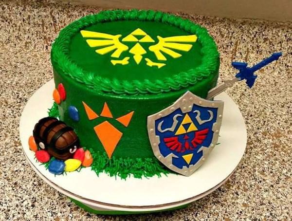 Zelda Video Game Cake