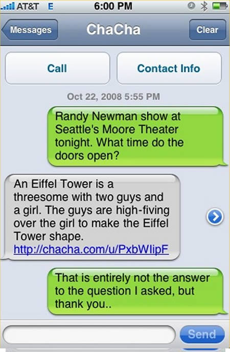 16 funny iphone text messages funny text messages hilarious text great service from chacha answers m4hsunfo