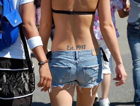 Dating girl with tramp stamp