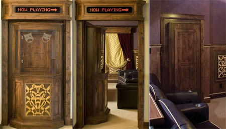 If You Are Big Fan Of Unique Hidden Doors And Cool Home Theaters, The Home  Theater Ticket Booth Door From Creative Building Resources (CBR) Combines  The ...